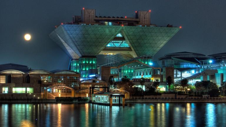 Tokyo Big Sight at night