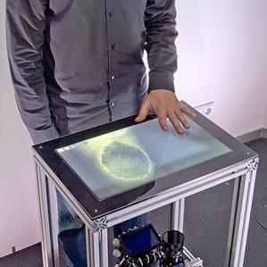 Touch Screen Fingerprint Reader