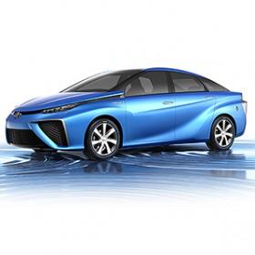 blue sporty hydrogen toyota