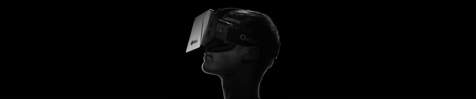 silhouette profile of man wearing an oculus rift headset