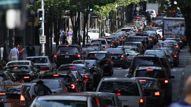 Traffic on Fifth Avenue