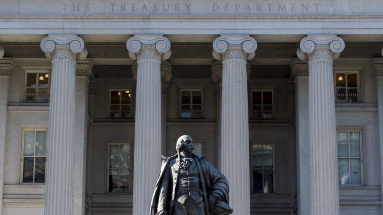 The US Department of Treasury building