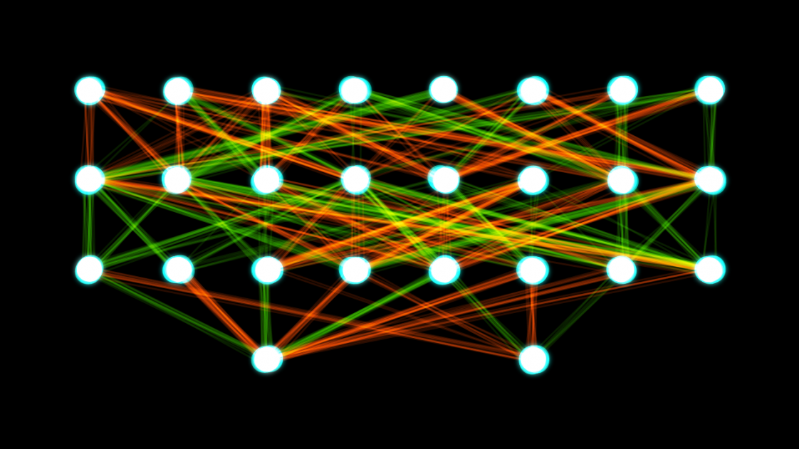 A two-layer neural network.