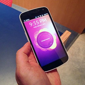 Ubuntu invites phone makers to cheat on google mit technology review phone home the lock screen of ubuntus mobile operating system shows recent activity such as the number of new tweets from people the user follows stopboris Choice Image