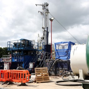 fracking station with rigs