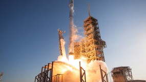 Photo of a satellite launch