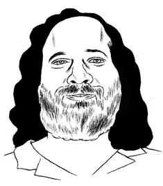 Illustration of Richard Stallman