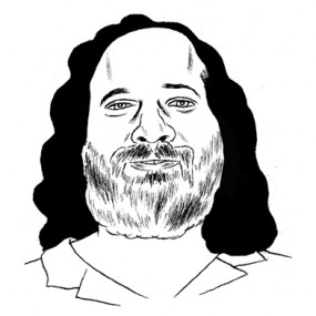 Illustration of Richard Stallman