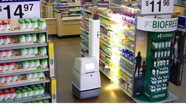 Shelf scanning robot in Walmart