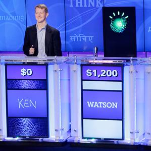 """Watson on set of """"Jeopardy"""""""
