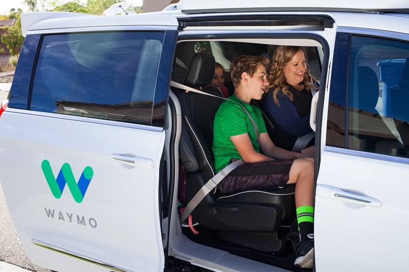 Three early riders testing out Waymo's robotaxi service