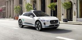An autonomous Jaguar developed by Waymo.