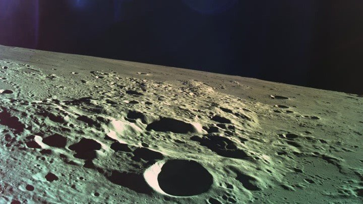 Image of the moon taken by Israel lunar lander Beresheet.