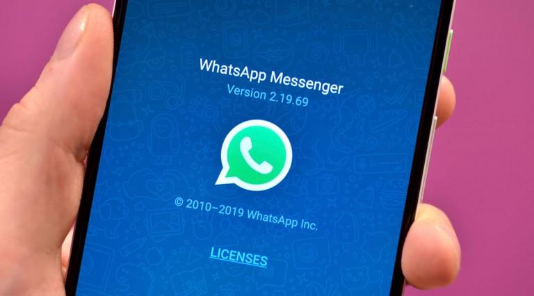 WhatsApp open on a smartphone