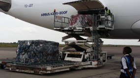 Ebola vaccine doses are delivered to Kinshasa