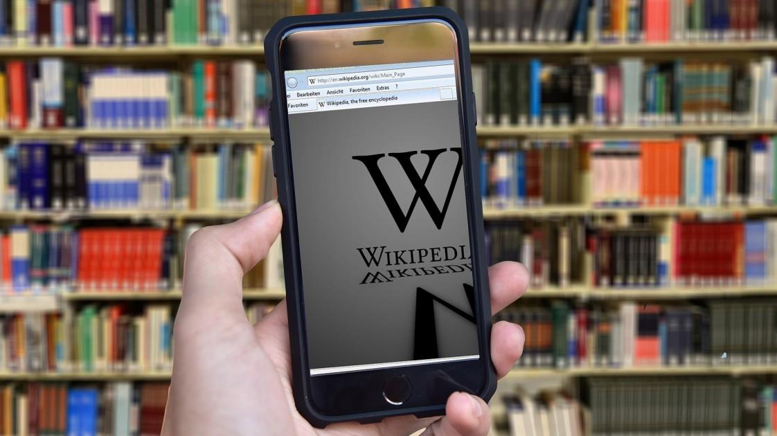 Wikipedia on phone