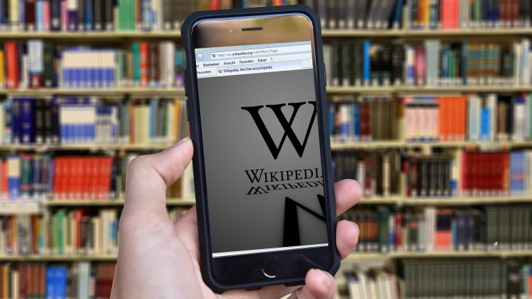 Wikipedia on phone