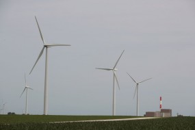 A wind farm in the US