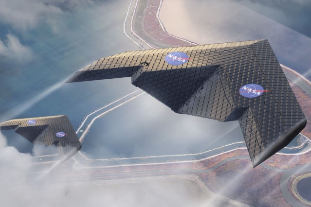 A mock-up image of a future aircraft