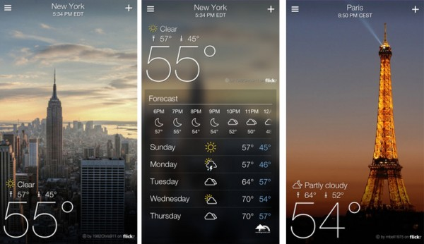 """Yahoo's Weather App Has No """"Cool"""" Interactions–And That's Amazing"""
