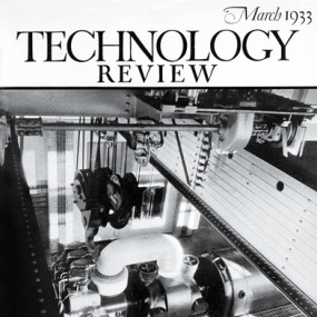 cover of Technology Review