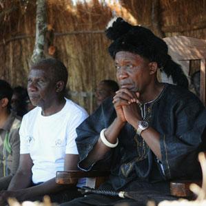 Chief Shakumbila, a traditional Zambian leade