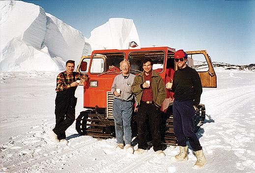physicians Konrad Falke, Graham Liggins, Zapol, and Jesse Roberts