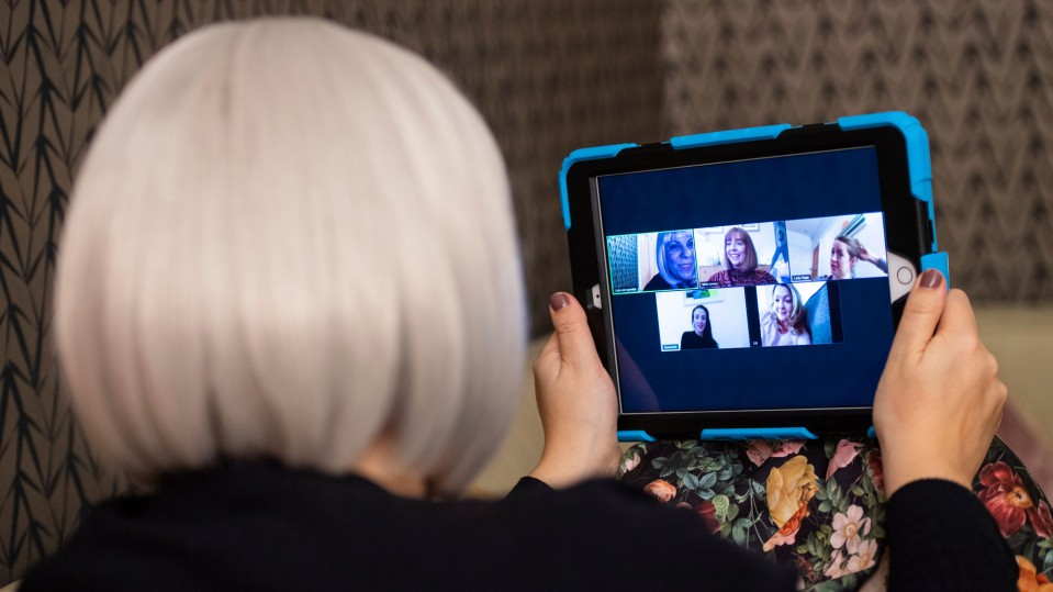 Women on a Zoom call