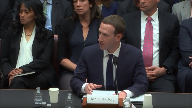 Mark Zuckerberg testifying to congress