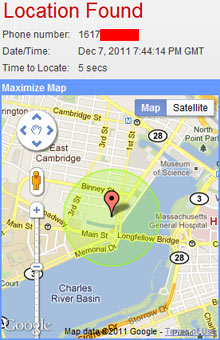 Startup Turns Your CellPhone Number Into A Location Fix MIT - Locate cell number on map