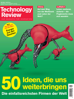 Latest issue of MIT Technology Review Germany